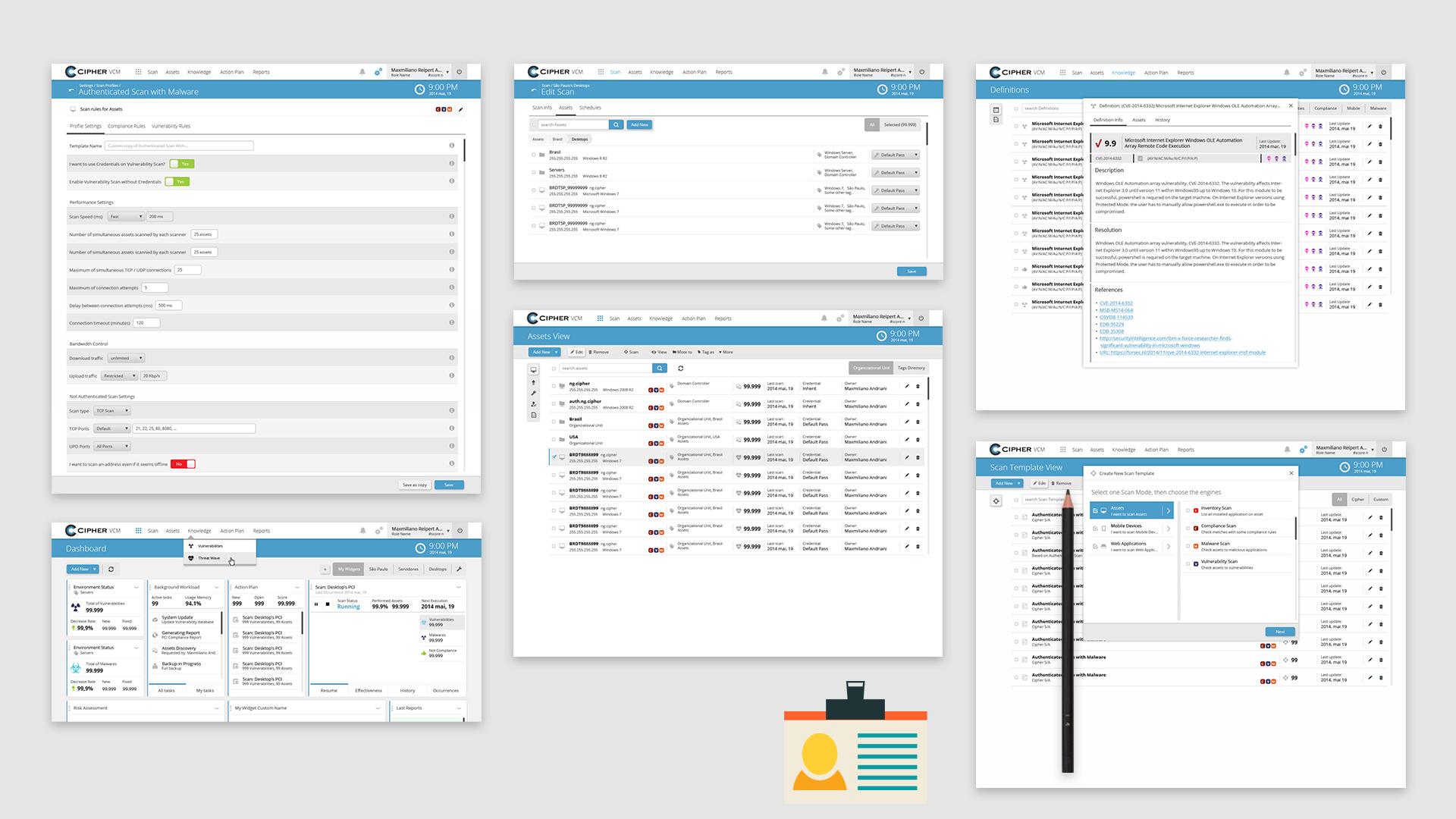 Cipher VCM: Protótipos de alta fidelidade